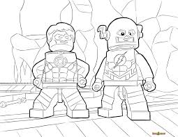 Small Picture LEGO Flash and Green Lantern Coloring Page Printable Sheet LEGO