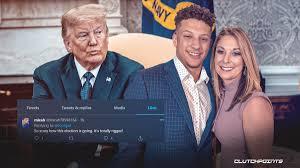 Who says he really tried to get his son to give up football back in. Chiefs News Patrick Mahomes Mom Goes On Rant About Biden Trump Presidential Election