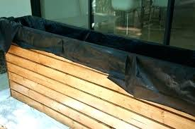how to make a flower box out of wood lining a wooden planter box you lining