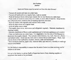 Resume Job Description For Janitor Samplebusinessresume Com