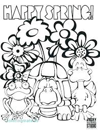 Coloring Page Spring Flowers Flowers Color Pages Free Lotus Coloring