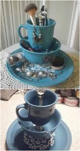 Decorative Cup And Saucer Holders From Tea to Décor 60 Gorgeous Projects to Upcycle Old Teacups 60