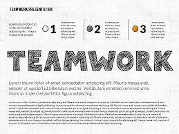 Teamwork Presentations Teamwork Presentation In Chalkboard Style For Powerpoint