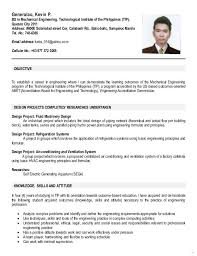 Resume Format For Ojt Elemental Representation Chemical Engineering