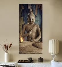 Wall Paintings For Living Room Aliexpresscom Buy Free Shipping Buddha Art Canvas Wall Art