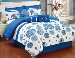 blue and white bedding sets print