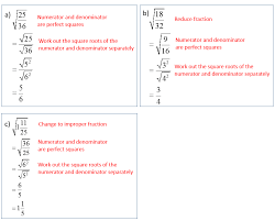 simplify squares roots radicals that have fractions solutions examples s