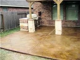 stained concrete patio. Staining Patios Stained Concrete For The Patio Also Like Idea Of Stone On  Base Posts .