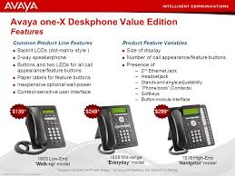 avaya one x deskphone value edition features