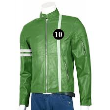 ben 10 ryan kelley ben tennyson green leather jacket mens leather jackets