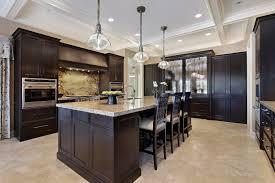 image of kitchen dark cabinets light countertops style