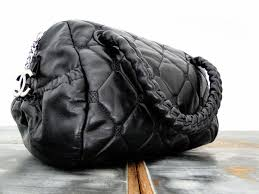 Black Quilted Lambskin HIDDEN CHAIN Small Bowler Tote Bag & Chanel Black Quilted Lambskin HIDDEN CHAIN Small Bowler Tote Bag Adamdwight.com