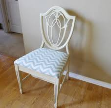 Vintage Shieldback Chair Repaired Repainted And Reupholstered - Shield back dining room chairs