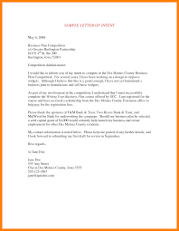 Business Letters Sample Job Intent Letter Business Plan Templates