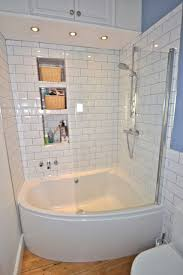 large tub shower combo bathtub shower combo for small spaces Simple White  Small Bathroom Design With