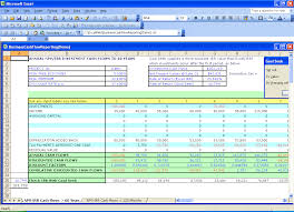 Financial Template For Excel Npv Analysis Excel Template Excel Financial Templates Net Present