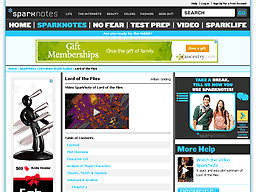 sparknotes com sparknotes a tale of two cities screenshot of sparknotes com lit flies