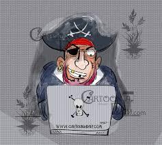 Internet Piracy Pirate Cartoon