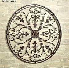 large wrought iron wall art rod iron wall art outdoor circle outdoor metal wall art decor