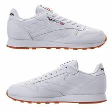 reebok classic leather gum casual men s white gum authentic new in box size