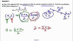 Endpoint Formula Midpoint Formula Solutions Examples Worksheets Videos