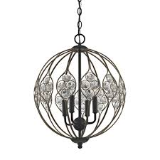 titan lighting crystal web 4 light matte black with bronze gold highlights and clear crystal