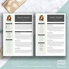Creative Resume Template Modern Cv Word Cover Letter Curriculum