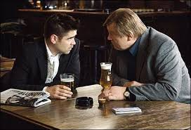 film reviews in bruges and happy go lucky telegraph colin farrell and brendan gleeson in in bruges