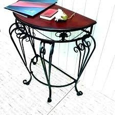 black wrought iron side table wrought iron and glass coffee table black wrought iron side table