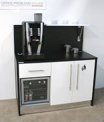 Coffee Stations For Office Mini Breakstation With Integrated Cooler And Storage