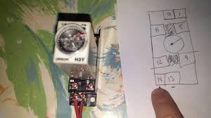 h3y relay with timer wiring youtube digital timer circuit diagram at Omron Timer Wiring Diagram