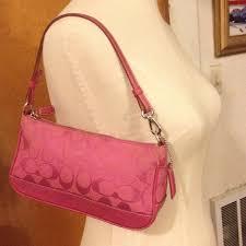 Pink Coach Purse. Small