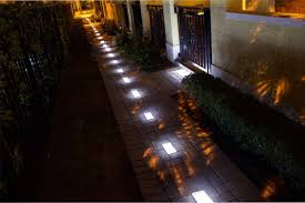 Brick Paver Lights Glass Solar Brick Paver Light
