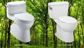 One piece toilet vs two piece toilet