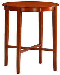 solid hardwood round top bar height pub table cherry finish