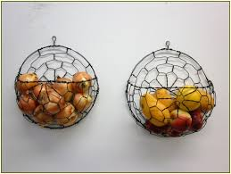 Canvas of Wall Mounted Fruit Basket Inserts the Interior Stylishly without  Making the Table Stuffy
