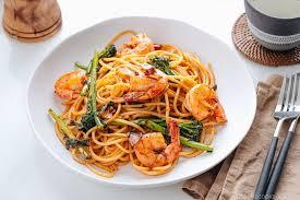 <b>Japanese</b>-<b>style</b> Pasta with Shrimp and Broccolini 海老と ...