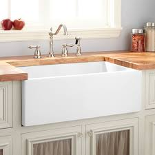White Apron Kitchen Sink 30 Mitzy Fireclay Reversible Farmhouse Sink Smooth Apron White