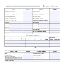 Personal Financial Statement Blank Forms Personal Financial Statement Blank Form Excel Dolapmagnetbandco