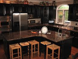 distressed black kitchen cabinets