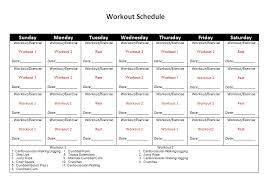 Mens Workout Schedule Template - Kleo.beachfix.co