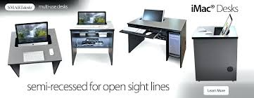 feng shui office desk placement. Imac Desks Semi Recessed Monitor Placement For All In Ones On Fixed Office Desk Feng Shui