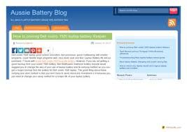 Extend Dell Vostro 1520 Laptop Battery Lifespan Instructions
