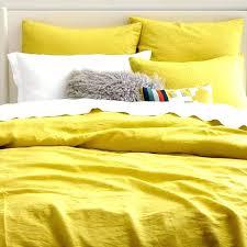 linen duvet cover queen. Linen Duvet Cover King Full Queen Citrus And Mason Yellow