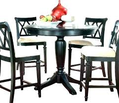 round counter height dining table sets black set square for 8 di black 5 counter height dining set