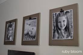 on fabric covered canvas wall art with ruby bloom diy canvas photo art