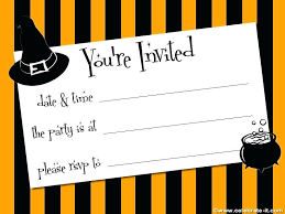 Blank Halloween Invitation Templates Appealing Free Invitation Templates 7 Template Halloween