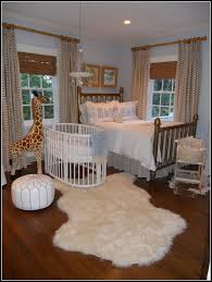 sheepskin rug baby nursery