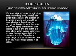 "a discussion of hemingway icebergs and a proverbial elephant  4 ""if"