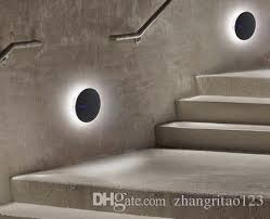 Image Led Nordic Simple Modern Wall Light Led Stair Creative Round Wall Lamp Fashion Corner Wall Sconce Home Lighting Fixtures Lamparas Iuminaire Canada 2019 From Dhgatecom Nordic Simple Modern Wall Light Led Stair Creative Round Wall Lamp